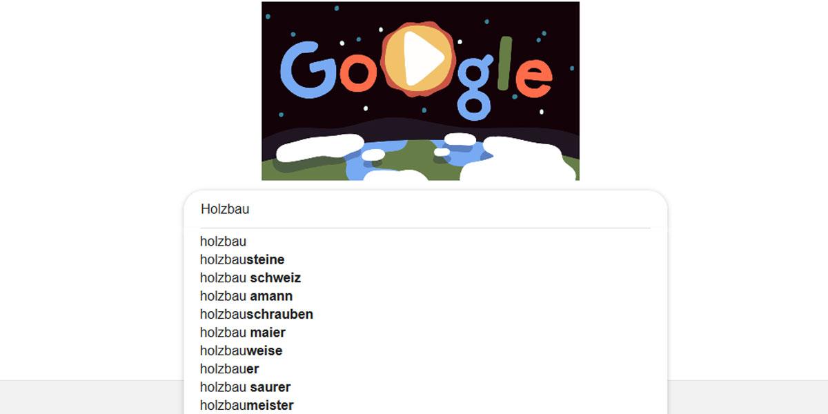 Zielgruppe Google-Suchleiste