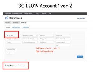 Affiliate Marketing DS24 Konto 1